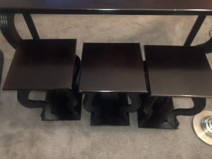 Console Table with 3 matching tables for Sale in Philadelphia, PA