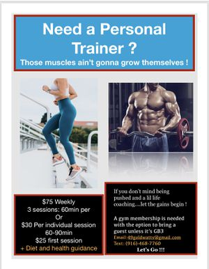 Personal Trainer for Sale in Fresno, CA