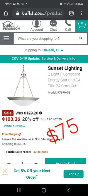 Sunset Lighting for Sale in Hialeah, FL