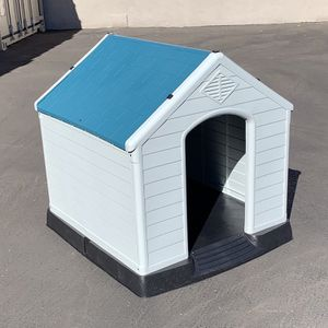"""New in box $110 Plastic Dog House Large Size Pet Indoor Outdoor All Weather Shelter Cage Kennel 36x34x38"""" for Sale in South El Monte, CA"""