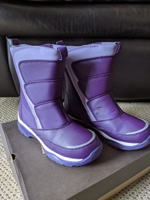Lands End Kids Snow Flurry Boots Girls Youth 3M Purple Insulated for Sale in Dublin, CA