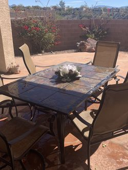 Patio Furniture With 6 Chairs, Good Condition for Sale in Tucson,  AZ