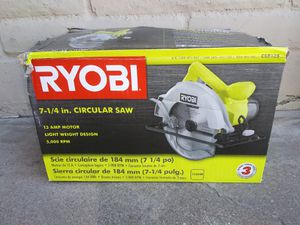 "RYOBI 7"" 1/4 CIRCULAR SAW CORDED for Sale in Phoenix, AZ"