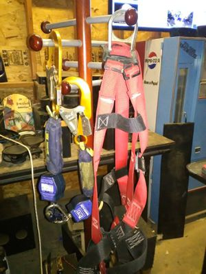 Falltect Safety Harness + Sala self retracting life line hooks for Sale in Tucson, AZ