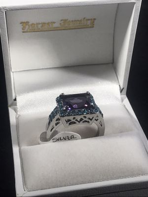Silver plated size 8 beautiful gemstone women's ring for Sale in Indianapolis, IN