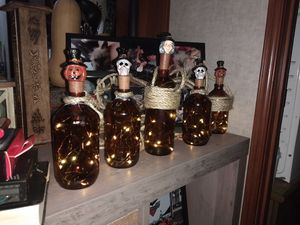 Vintage bottle string of Halloween lights for Sale in Williamsburg, MI