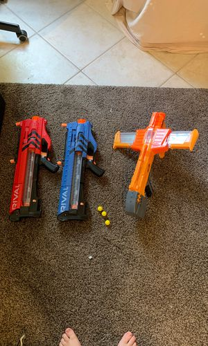 (Rival MXV-1200) toy guns and (DoubleDealer Nerf Gun) for Sale, used for sale  Boca Raton, FL