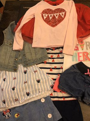 Girl clothes and Valentines outfit size 5/6 for Sale in Fresno, CA