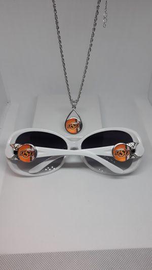 Oklahoma State University Sunglasses, Necklace and Bracelet set for Sale in Jacksonville, FL