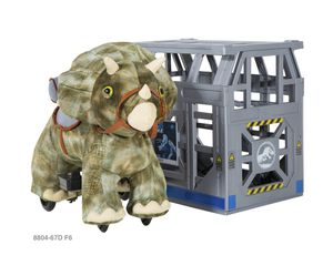 Jurassic Park 6v riding triceratops with cage for Sale in Dallas, TX