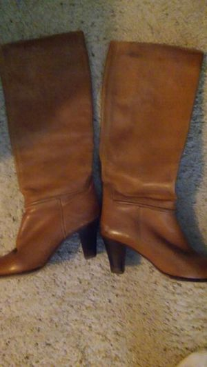 Leather boots, tan for Sale in Baltimore, MD