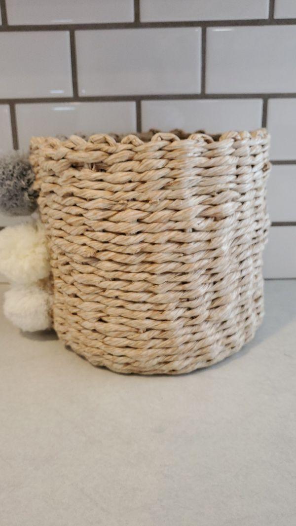 Nursery basket bin decor