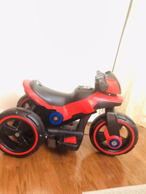 Tobbi Kids Ride On Motorcycle 6V Bicycle 3 Wheels Electric Battery Powered Toy w/ Horn, MP3, TF Card Slot, USB Interface, and Story Function for Sale in Annandale, VA