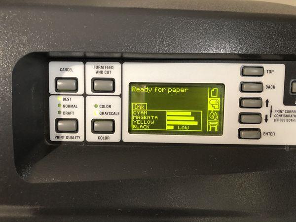 Hp designjet 1055cm plus large format printer, plotter