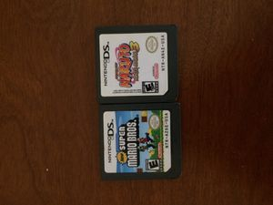 New super Mario Bros ds and naruto 3 Nintendo ds for Sale in San Ramon, CA