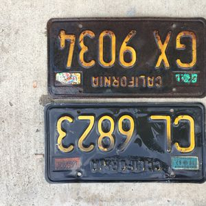 Vintage CA Black And Gold Trailer License Plates for Sale in Orange, CA