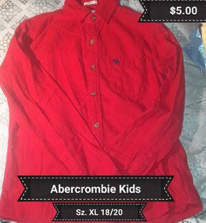 Abercrombie Kids Red Long Sleeve Button Up Flannel Sz. XL (18/20) for Sale in Brooksville, FL