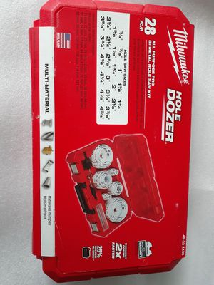 Milwaukee 28pc. Bi-Metal PRO all purpose Hole Saw Kit NEW- Sealed for Sale in Seattle, WA