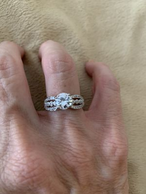 New CZ sterling silver wedding ring size 6 for Sale in Inverness, IL