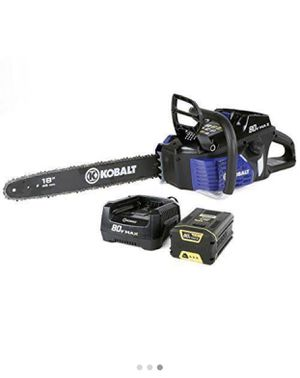 "Kobalt 80v Max 18"" electric chainsaw for Sale in Turlock, CA"