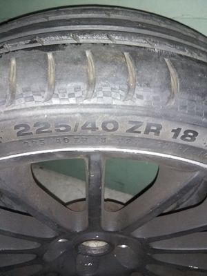 18 inch Continental- Sport contact 3 tire and black spoke wheel for Sale in Portland, OR