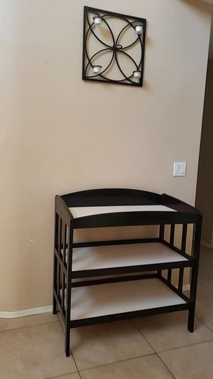Dark brown changing table for Sale in Peoria, AZ