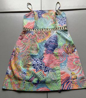 $178 Lilly Pulitzer Lenore Lolita Dress With Shorts Lining Bright Neon Size 6 for Sale in West Palm Beach, FL