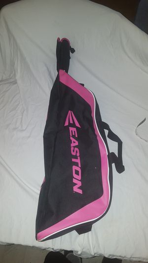 Easton baseball bat equipment bag 35 in Long girls black and pink for Sale in Everett, WA