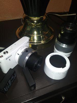 Nikon 1 J1 10.1MP Digital Camera - White (Kit w/ VR 10-30mm & 30-110mm Lenses) for Sale in Portland, OR