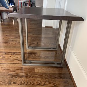 Solid Wood And metal End Table for Sale in Greenville, SC