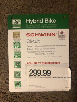 "Schwinn Men's Circuit 28"" Hybrid Bike for Sale in Fresno, CA"