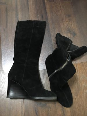 New Franco Sarto new boots suede leather black 7.5 size for Sale in Rancho Cucamonga, CA