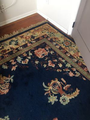 Blue wool antique area rug 10x14 for Sale in Burien, WA