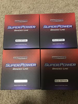 4 Brand New Kastking Fishing Braided Line Super Strong Line for Sale in Lincoln, NE
