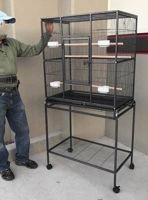 New in box 32x18x64 inche tall parakeet parrot bird cage half inch spacing top bottom can be separated for Sale in Whittier, CA