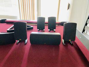 Quintet 2 black klipsch home theater surround sound system for Sale in Las Vegas, NV