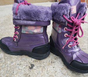 Girls Ugg boots .size13 (used) purple &pink for Sale for sale  Brooklyn, NY