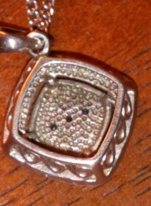 .925 silver with black diamond chips for Sale in Port Neches, TX