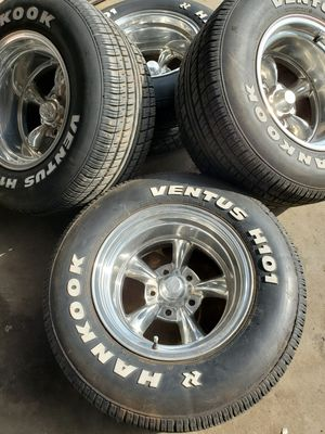 15x10 American Racing Torque Thrust wheels and tires for Sale in Humble, TX