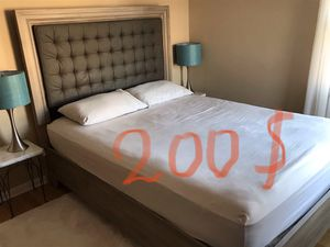 Queen bed frame with mattress for Sale in Morton Grove, IL