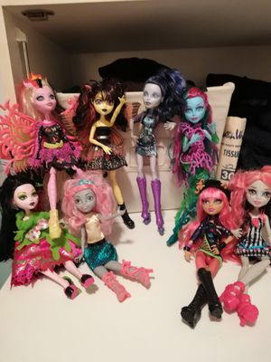 Monster high Dolls all 8 for Sale in West Palm Beach, FL
