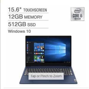 """Lenovo IdeaPad 3 15.6"""" Touchscreen Laptop - 10th Gen Intel Core i5-10210U - 768p for Sale in Pompano Beach, FL"""
