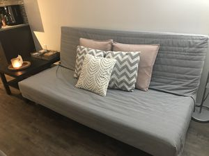 Luxury Futon With Gray Cover for Sale in Philadelphia, PA