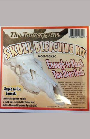 skull bleaching kit deer elk moose ram taxidermy hunting supplies white tail for Sale in Clarksville, TN