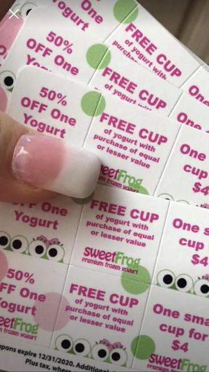 Sweetfrog Coupon Card for Sale in Hedgesville, WV