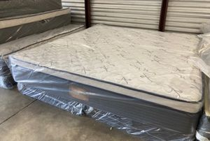 New king orthopedic firm pillow top mattress and box spring $350 for Sale in Winter Park, FL