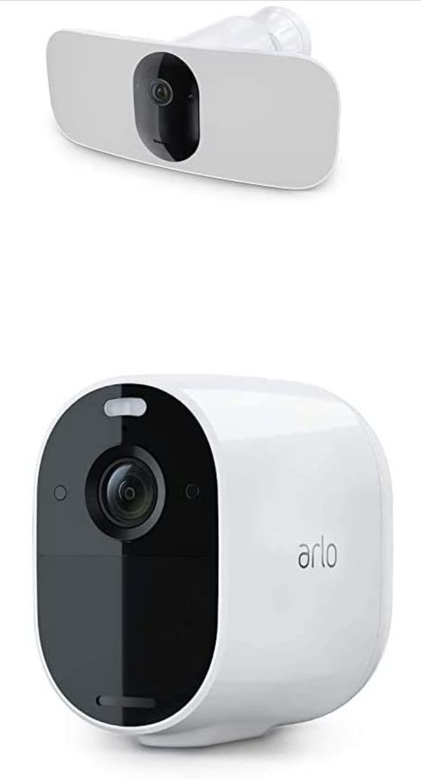 Arlo Pro 3 Floodlight Camera + Arlo Essential | Home Security Camera with 2K Video and HDR | Wire-Free, Weather-Resistant, Color Night Vision, Spotli