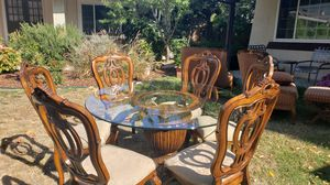 Glass Kitchen Table & 6 Chairs for Sale in San Jose, CA