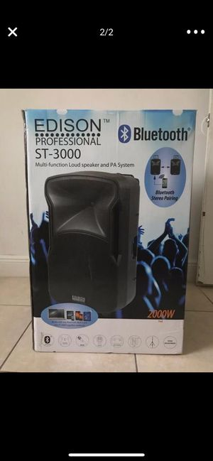 Edison profesional with Bluetooth like new for Sale in Miami, FL