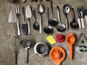 Kitchen utensils: knives, spoons, forks, grater, funnel for Sale in Rockville, MD